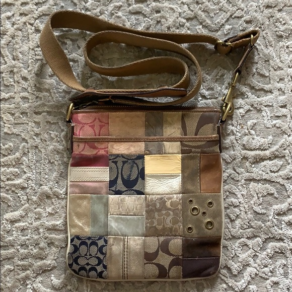 Coach Handbags - Authentic Coach Patterned Crossbody